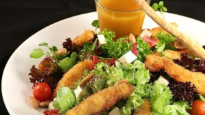 Receta ensalada primavera con pollo mostaza y miel
