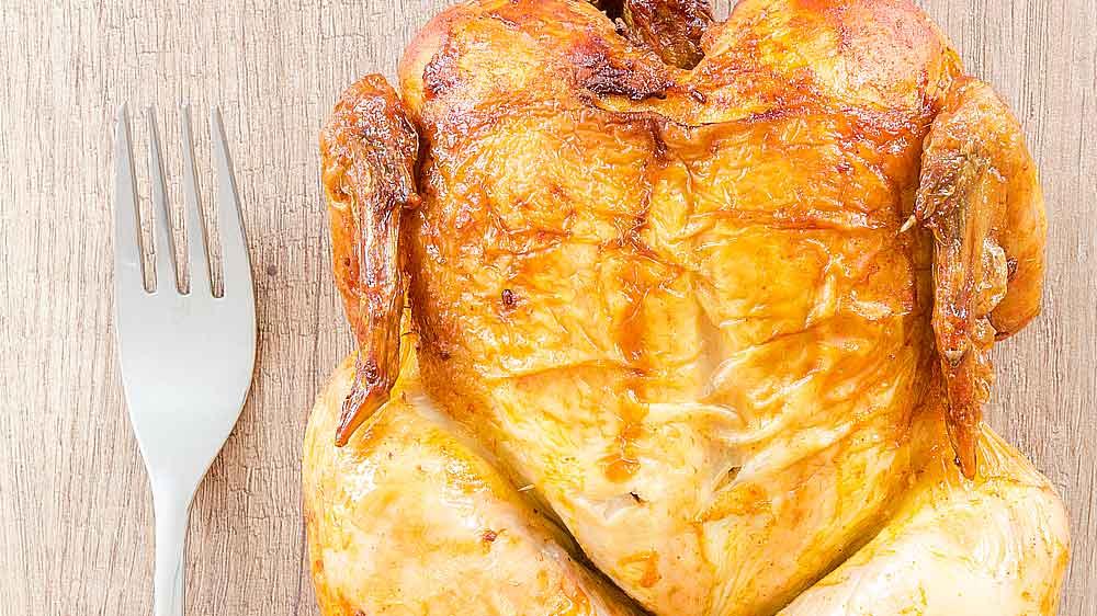 Receta de pollo asado sencillo