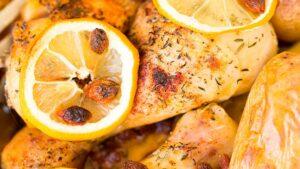 Receta de pollo asado con cítricos