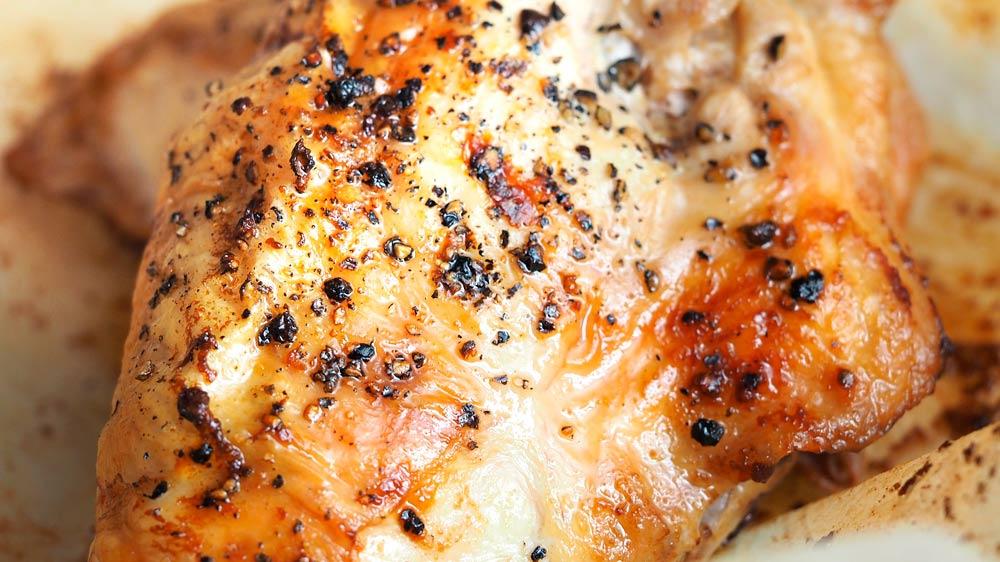 Receta de pollo dulce con ajo y especias