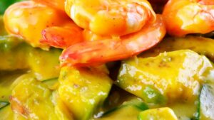 Receta de ensalada de mango aguacate y langostinos