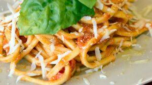 Receta de pasta con queso parmesano y pollo