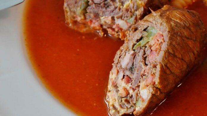 Receta de rollitos de ternera con relleno de verduras
