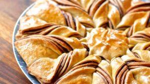 Receta de estrella de hojaldre y cacao