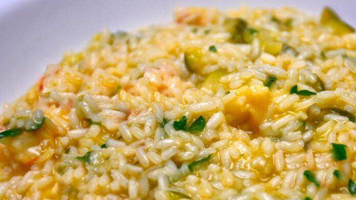 Receta de risotto con queso roquefort