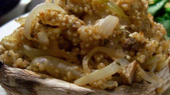 Receta de risotto de quinoa y champiñones