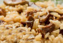 Receta de Risotto de arroz con champiñones