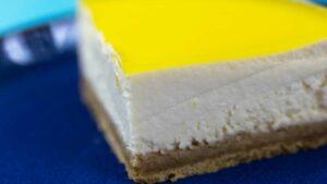 Receta de tarta fría de limón y queso