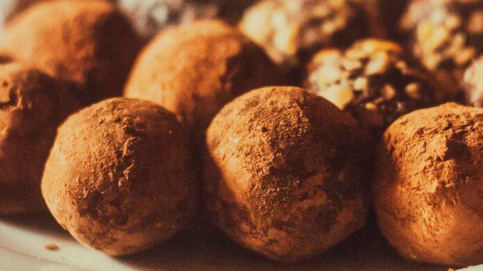 Receta de trufas de chocolate y cacahuete