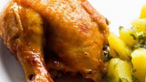 Receta de muslos de pollo a la mostaza miel y naranja