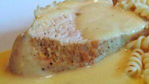 Receta de pechuga de pollo con nata y mostaza
