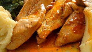 Receta de pechuga de pollo en salsa de mostaza y estragón