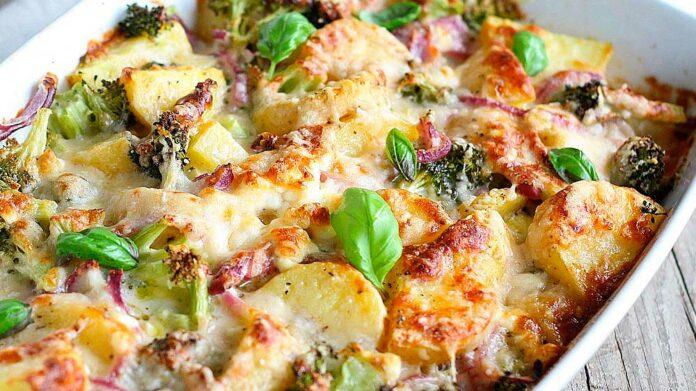 Receta de gratinado de brócoli y patata