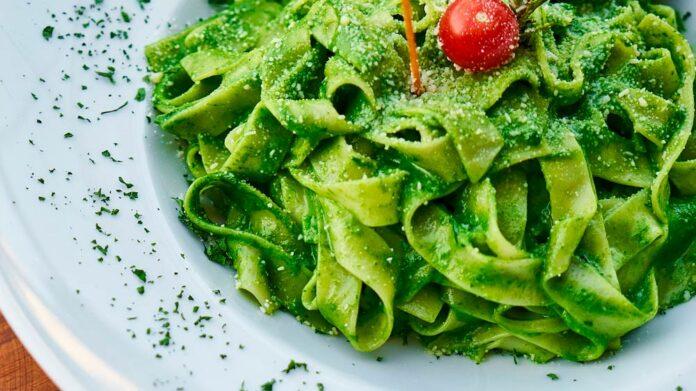 Receta de pasta con salsa verde