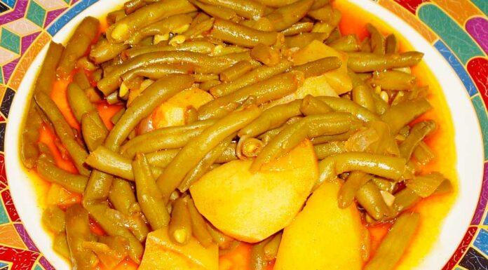 Receta de cocido de patatas y judias verdes
