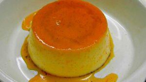 Receta de flan de leche condensada y naranja