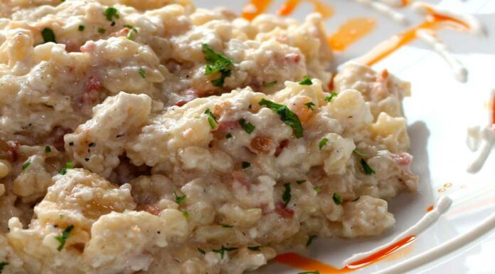 Receta de arroz con salmon y nata