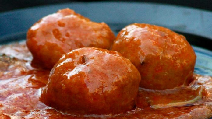 Receta de albondigas caseras en salsa