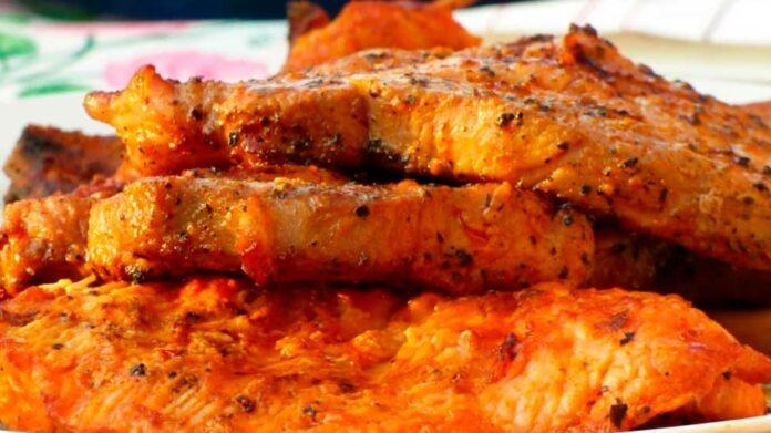 Receta de chuleta de cerdo en salsa dulce con mostaza