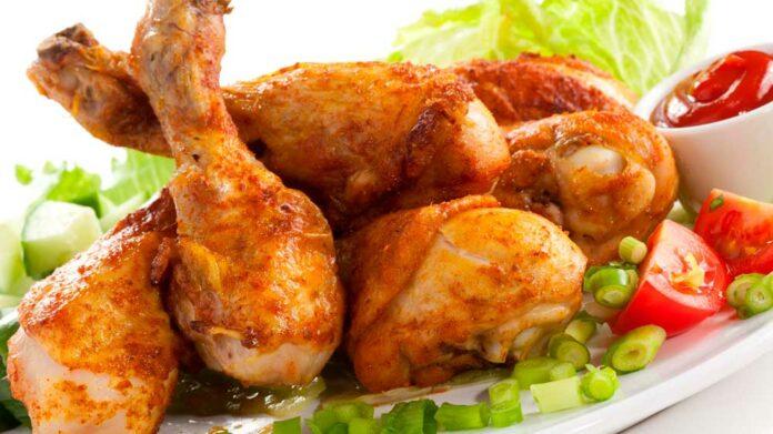 Receta de muslos de pollo al horno ligeros
