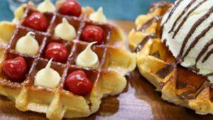 Receta de waffle belga gofres
