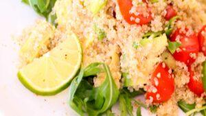 Receta de quinoa con cilantro y lima