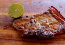 Receta de chuletas de cerdo al limon