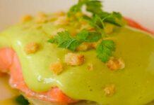 Receta de lomos de salmon al cilantro