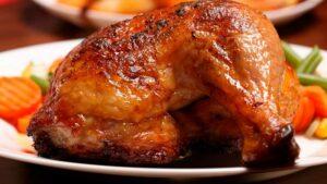 Receta de muslos de pollo horneados con miel y mostaza