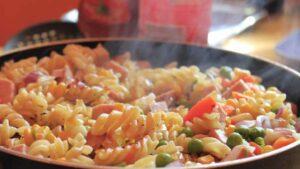 Receta de ensalada de pasta con piña