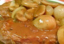 Receta de entrecot con salsa de castañas y setas