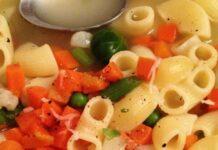 Receta de sopa de verdura y pasta