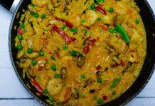 Receta de arroz caldoso con marisco y pescado
