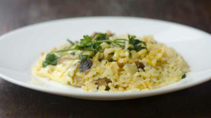 Receta de arroz con verduras y champinones