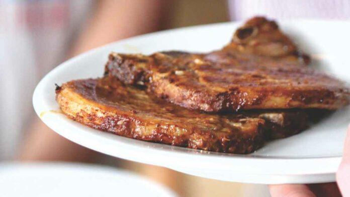 Receta de chuletas de cerdo con manzana
