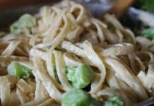 Receta de pasta con nata y calabacin