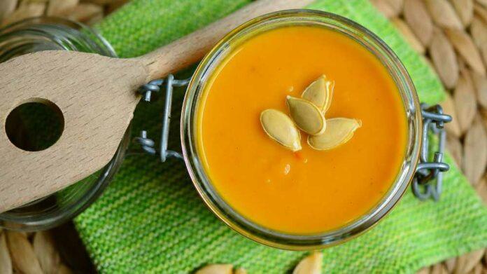 Receta de crema de calabaza con semillas de ajonjolí